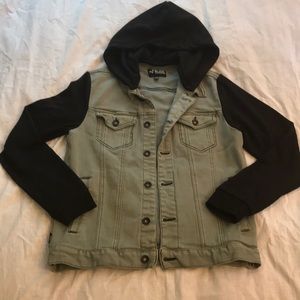 RUDE Brand denim jacket with removable hood